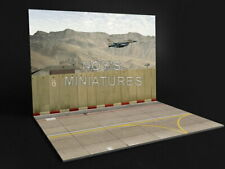 Noy's Miniatures 1/72 Airfield Tarmac Sheet: IDF/AF Airbase Set #1 Concrete Wall