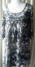 3/4 Sleeve Scoop Neck Regular Textured Dresses for Women