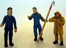 3 Fishing Boat Trawler men OF20 UNPAINTED O Scale Langley Models People Figures