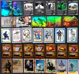 Military Trading Card Lot, Civil War, Guard, Patches, Desert Storm, Holo, Gaming