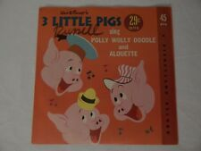 Disneyland Records 3 Little Pigs LG-710 Excellent Cond