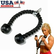 Fitness Arm Tricep Rope Pushup Pull Down Press Bar Gym Cable Attachment Exercise