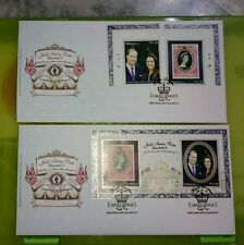 #2 Malaysia 2012 Royal visit Duke Prince William & Kate  MS stamps FDC pair set