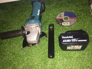 Makita 115mm 18v LXT Angle Grinder + 5Ah Battery