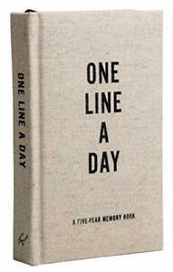 Canvas One Line a Day by Chronicle Books Notebook / blank book NEW Book