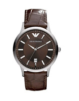 Emporio Armani Men's AR2413 Brown Leather Watch 0361