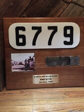 Mounted SBD Locomotive Builder Plate, Number Screen And Photo Of Unit SBD 6779