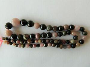 Tourmaline, Stunning Smooth Round Beads Size Graduated 4mm - 10mm on 41cm Strand
