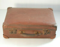 Vintage Suitcase Brown Leather  For decoration, prop use only.