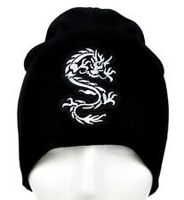 Chinese Bruce Lee Dragon Beanie Alternative Clothing Knit Cap Martial Arts Fight