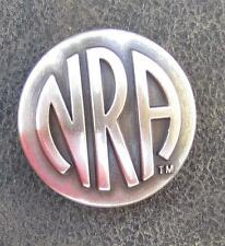 NRA National Rifle Association concho one inch wide.  Silver / pewter finish.