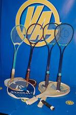 lote de 5 raquetas squash ADIDAS-BOOMERANG-ROSSIGNOL- usadas pero en buen estado