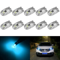 10x Ice Blue T10 168 194 3030 2-SMD LED Bulb For Car License Plate Number Lig JR