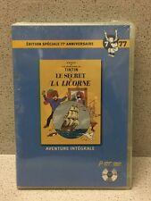 DVD Les Aventures de Tintin Secret de La Licorne / 77e anniv [Neuf sous blister]