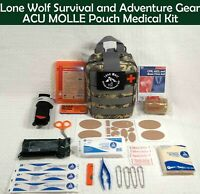 Custom Enhanced MOLLE Pouch Individual First Aid Kit (IFAK) with 303 Items!!