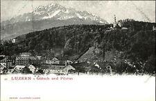 Luzern Schweiz Switzerland Suisse ~1900 Gütsch Pilatus Kirche Church ungelaufen