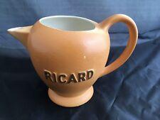 Vintage Ricard rond pitcher 1 Liter ceramic