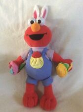 "Fisher Price 14"" Talking Sesame Street Elmo Easter Egg Hunt Plush Stuffed Anima…"