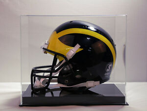 Football helmet NFL solid black base 85% UV acrylic memorabila full size helmet