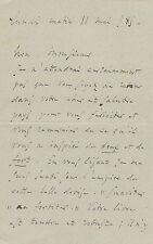 Charles GOUNOD.  Lettre autographe signée à Raoul Lafagette. 1885
