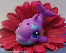 Littlest Pet Shop Purple & Blue Belly Baby Dolphin #1922