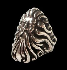 Solid Sterling Silver Handmade Poseidon God Atlantis Ring - All Sizes Neptune