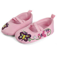 Girls Baby Kids Infant Toddlers Princess Ballet First Walking Flower Pink shoes