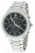 NEW CITIZEN ECO DRIVE MEN'S RIVA DIAMOND CHRONOGRAPH WATCH AT0510-59E