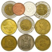 COINS FROM ARAB REPUBLIC OF EGYPT OLD COLLECTIBLE COINS EGYPTIAN PIASTRES POUND