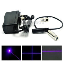 Focusable 405nm 20mw Violet/Blue Laser Dot/Line/Cross Module w/ 5V AC Adapter