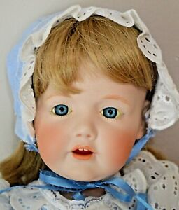 ALL BISQUE HILDA TODDLER DOLL ANTIQUE REPO JANICE LEWIS