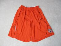 Nike Oregon State Beaves Basketball Shorts Adult Large Orange Black Dri Fit Mens