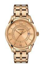 Versace Men's V10090015 APOLLO Rose Gold Greek Key Date Roman Numbers Wristwatch