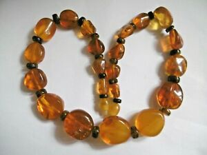 LOVELY VINTAGE BALTIC HONEY AMBER BEAD NECKLACE 32G