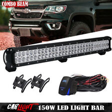 "28""  LED Light Bar Bumper Hidden Lamp Wire Kit For 2014-17 Toyota Tundra 28"""