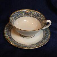 Lenox Autumn Presidential Collection Tea Cup & Saucer Set s Gold Backstamp