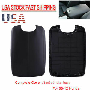 Armrest Center Console Lid Cover Leather + Base For 08-12 Honda Accord Black US