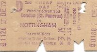 B.R.B. Edmondson Multiprinter Ticket - London St. Pancras to Nottingham