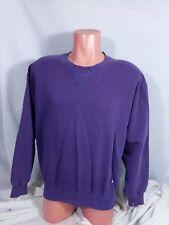 Vtg Russell Athletic Sweatshirt Sz Medium Purple Made In USA Distressed Worn