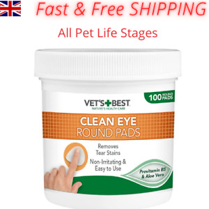 Dog Eye Cleaning Pads Tear Stain Remover Wipes Round Pets Eyes Clean Wipe Pad_UK