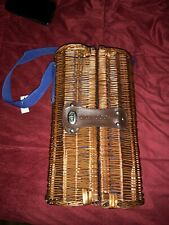 GREY GOOSE. Wicker Liquer Bottle Carrier Travel Picnic New
