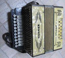 antique HOHNER STUDENT I Accordion Accordeon Harmonica Harmonic Collectable Rare