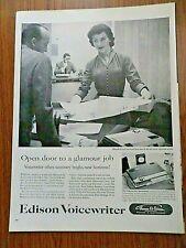 1956 Edison Voicewriter Ad  The Voicewriter Secretarial