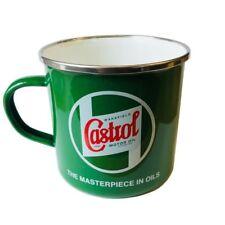 Retro Classic Castrol Oil Tin Mug - Tea Break Drinking Cup Vintage Style