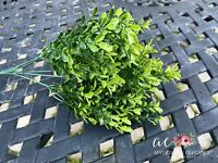 Artificial Boxwood Stems in Bush Greenery Wedding Flowers Centerpieces Fake Faux