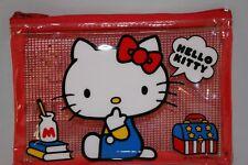 Sanrio Hello Kitty Mesh Vinyl Case Red Kawaii cute Japanese Character F/S (New)