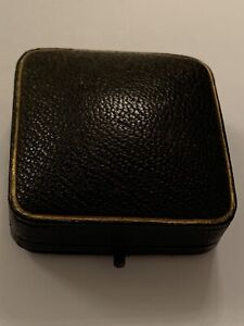 Nice Antique Hinged Square Brooch Box