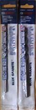 "Bosch HCBG06 1/4"" and HCBG12 3/8"" Blue Granite 6"" Long Hammer Drill Bits"