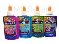 Elmers Translucent Color Glue 4 pack Blue Pink Purple & Green Great for Slime