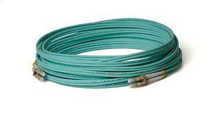 50m LC LC Glasfaserkabel OM3 aqua Multimode LWL Duplex Lichtwellenleiter